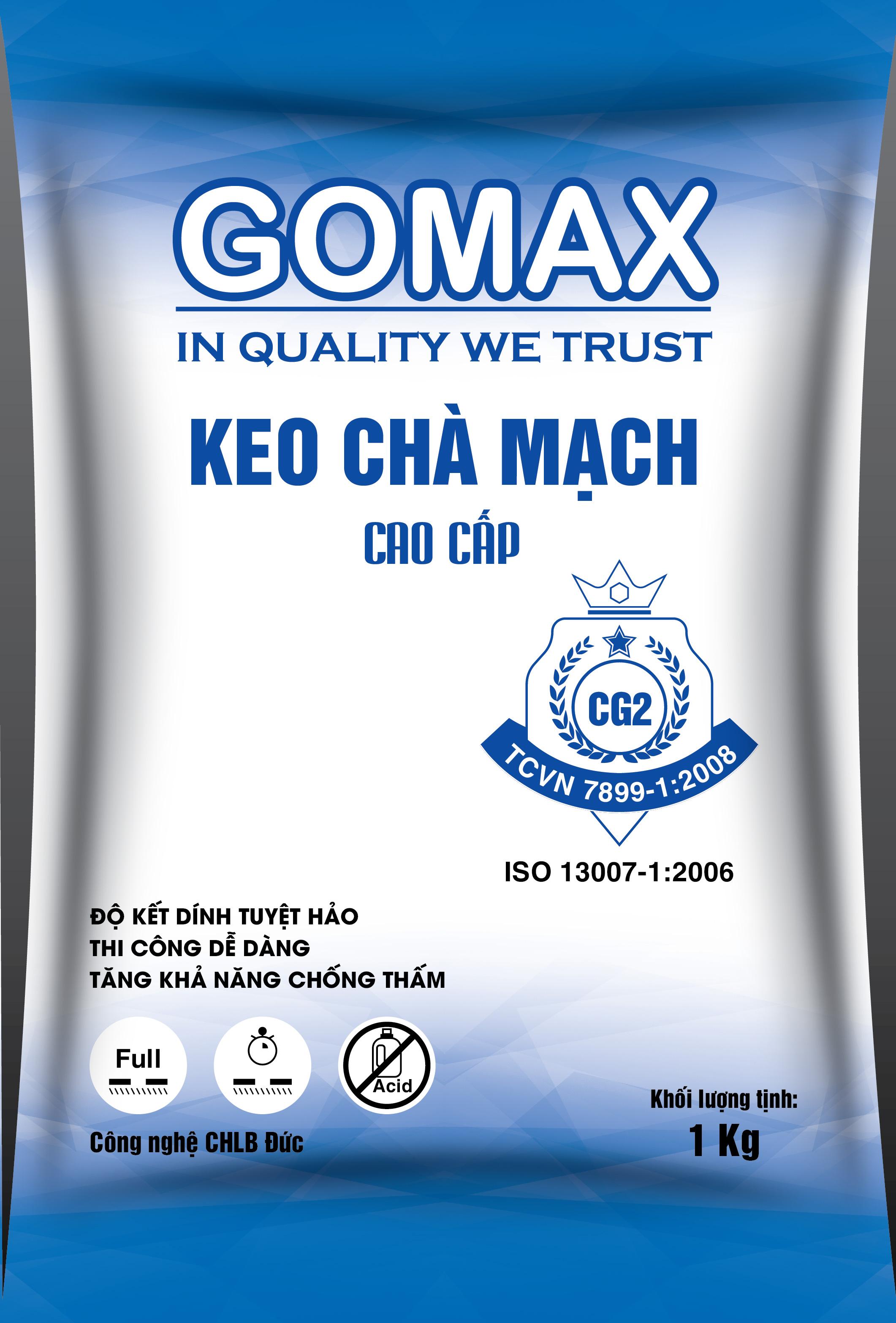 Keo miết mạch dạng mịn Gomax